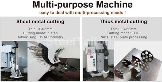 CNC table plasma cutting machine is an multi-purpose machine